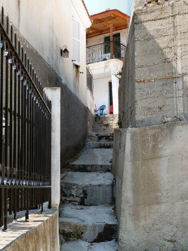Griekse steegje op Kalamos
