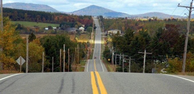 typisch amerikaans zicht op de weg
