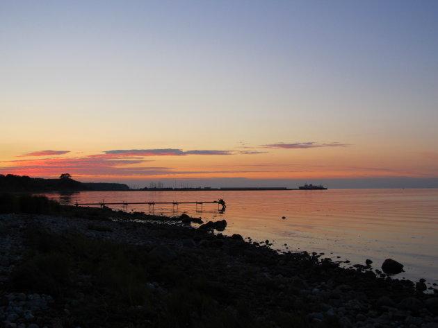Prachtige zonsondergang bij Fynshav