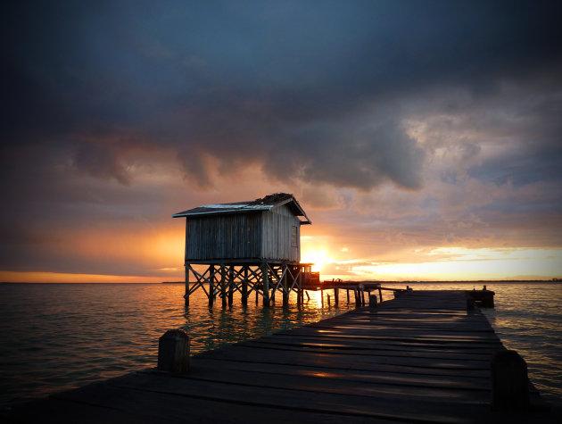 Tobacco Caye sunset