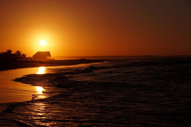 Zonsondergang Barra Point