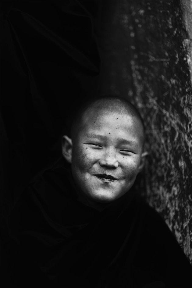 Jonge monnik, Bhutan.