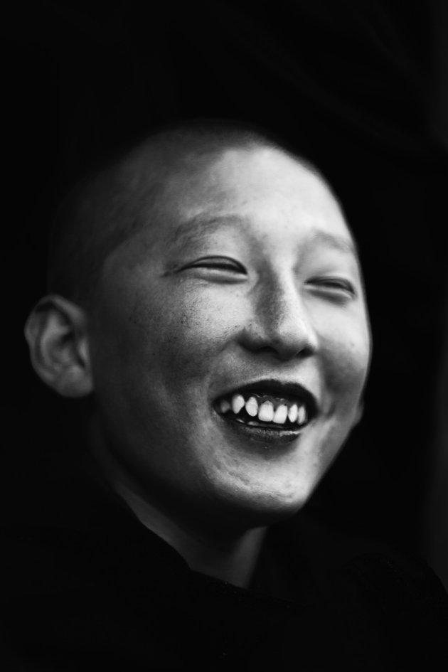Jonge monnik, bhutan (2)