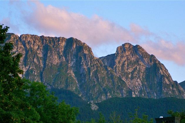 Ijzeren kruis op de berg Giewont