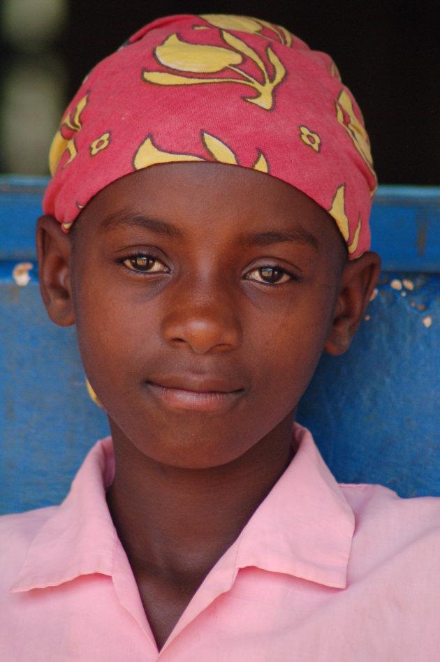 Schoolmeisje in Kenia