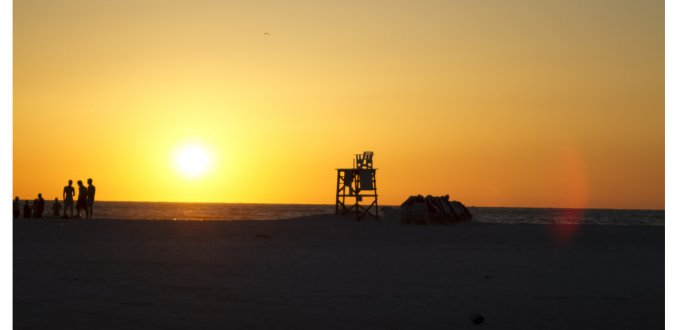 Zonsondergang vlakbij Tampa