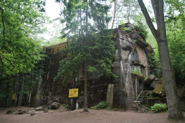Wolfsschanze, het bunkercomplex van Hitler voor de inval in Rusland WOII