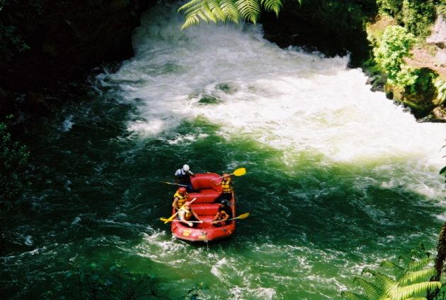 Raften bij Okere Falls