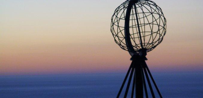 Noordkaap na zonsondergang eind augustus