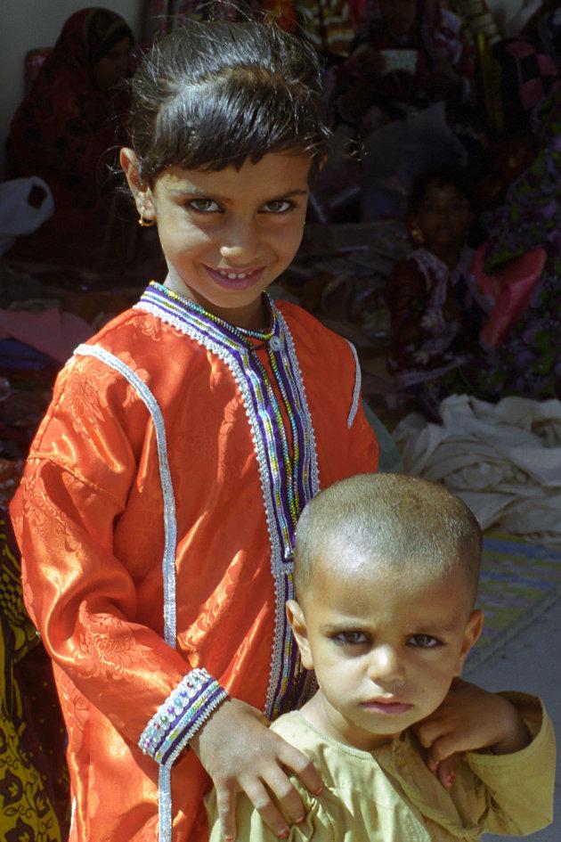 Kindertjes op de vrouwensouq