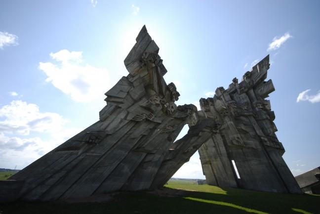 Monument bij het IX Fort in Kaunas