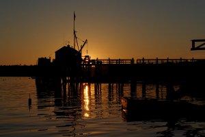 Ondergaande zon in Maine