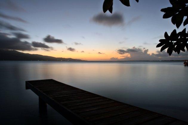 Zonsondergang op Taha'a