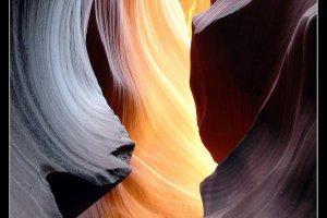 kleurenscala in de slot canyon