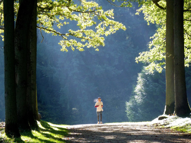 aankomende jogger