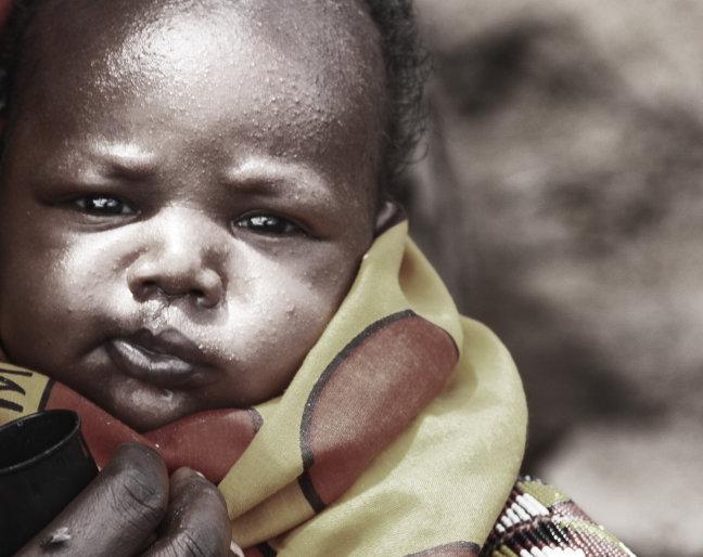 Jongste lid van de Masai familie