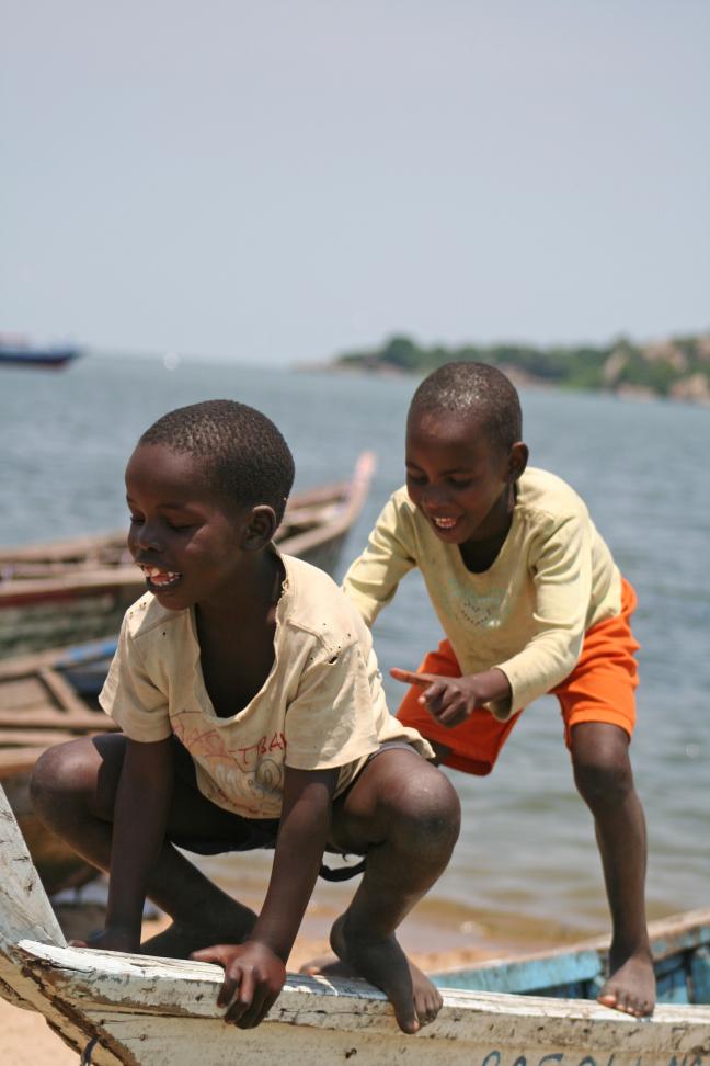 Kids @ lake Victoria