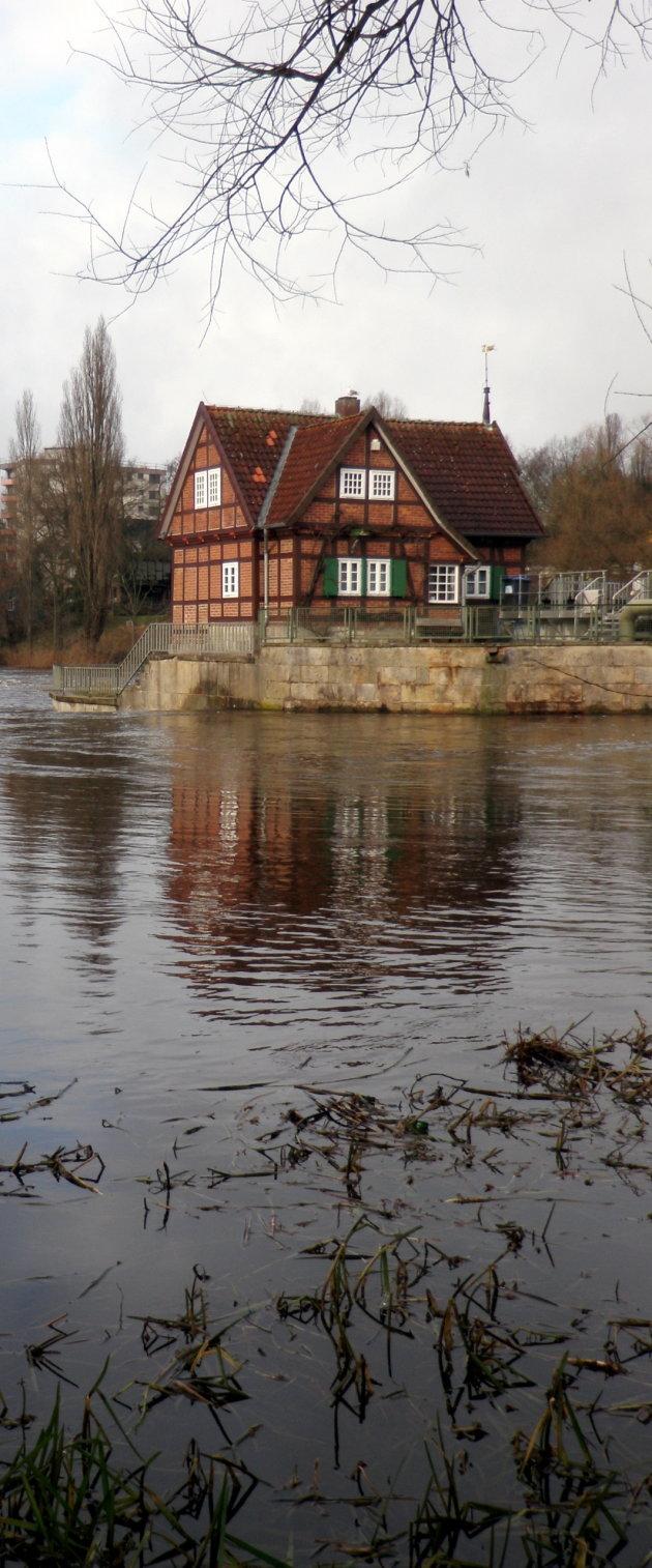 Hoog water in Celle