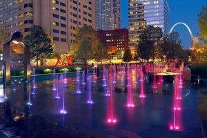 City Garden St Louis @ night