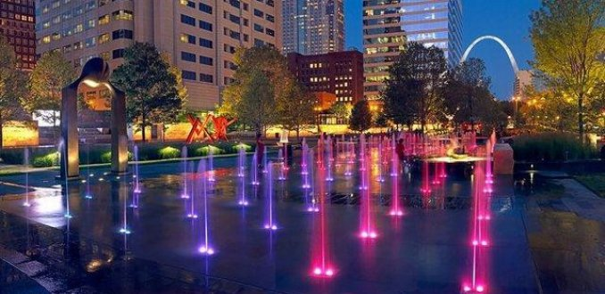 City Garden St Louis @ night
