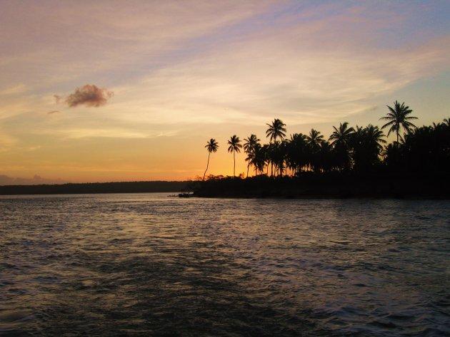 Zonsondergang bij Tibau do Sul