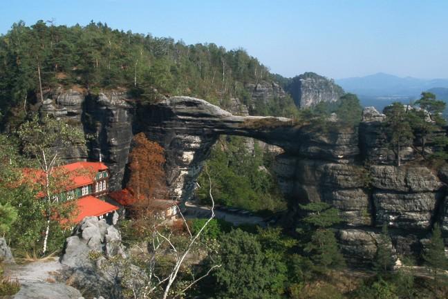 Natuurbrug in Boheems Zwitserland