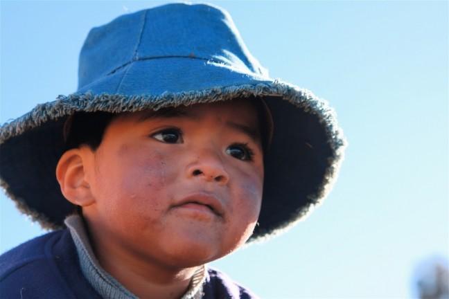 kindergezicht bolivia