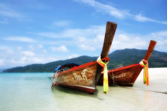 Strandbeeld van een waar tropisch paradijs!