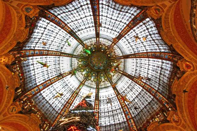 The dome of the Galeries Lafayette in Paris