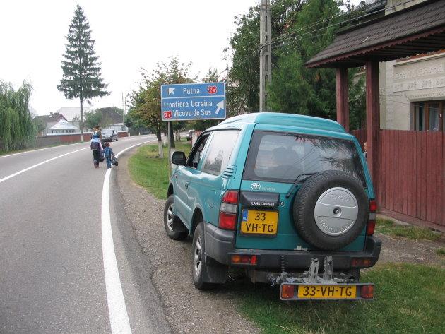 De grens Roemenie - Oekraine