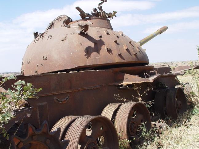 tank in het noorden
