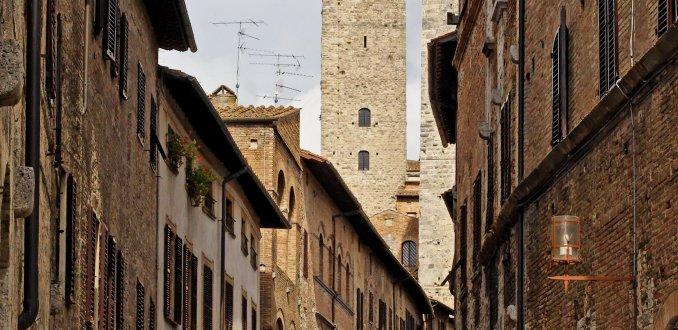 Straatje in S. Gimignano