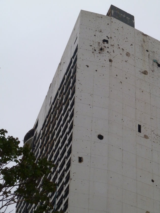Oorlog schade in Beiroet (Libanon)
