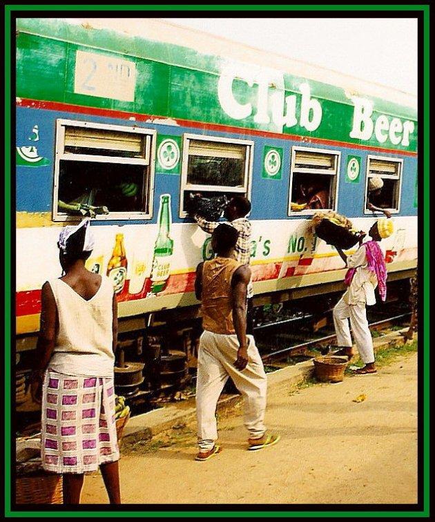 Biertje op de trein