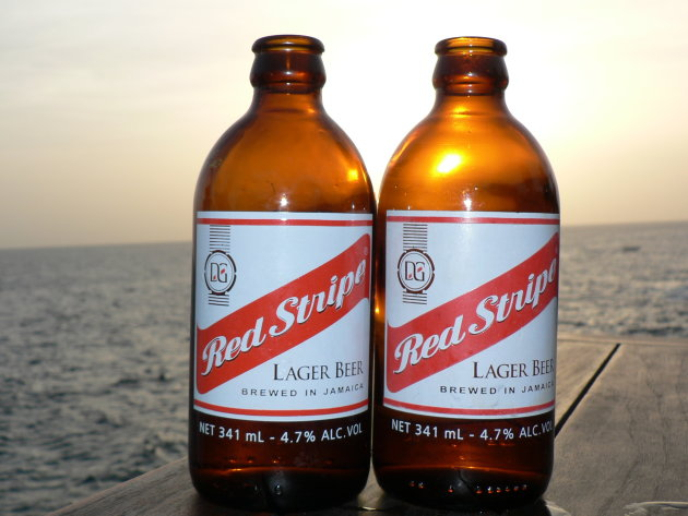 Red stripe in the Jamaican sunset