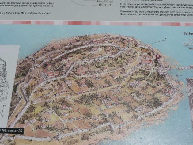 Plattegrond van Butrint