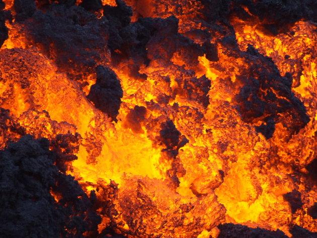 Lava Pacaya vulkaan
