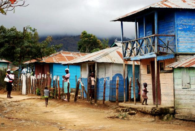 Vluchtelingendorp op Haiti