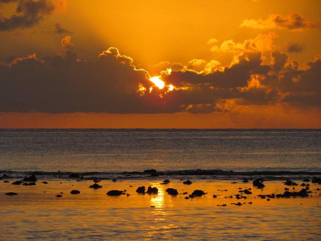 Zonsondergang vanaf Great Corn Island