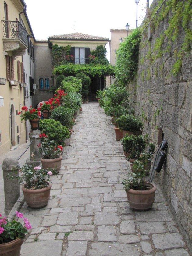 Straatje in San Marino
