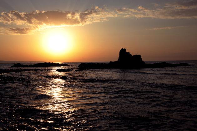 Zonsondergang op Cyprus