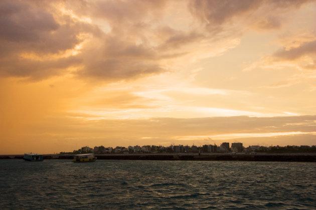 Sunset bij Malé