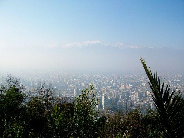 Zicht op Santiago
