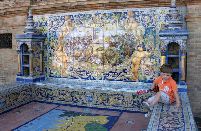 Plaza de Espana, Pontevedra mozaiek