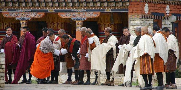 Hoge pieten in Thimpu