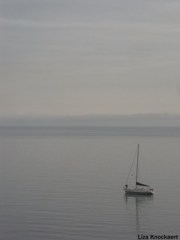 Bootje in de mist