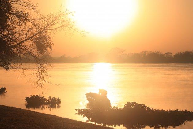 zonsopkomst in de Pantanal