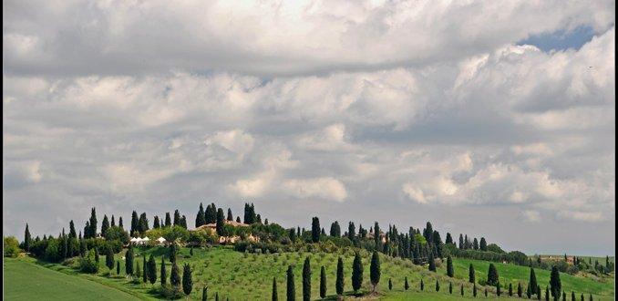 Gestyleerd Toscaans  landschap