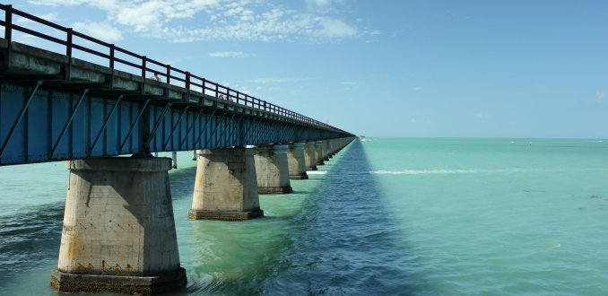 Seven Mile Bridge in de Florida Keys