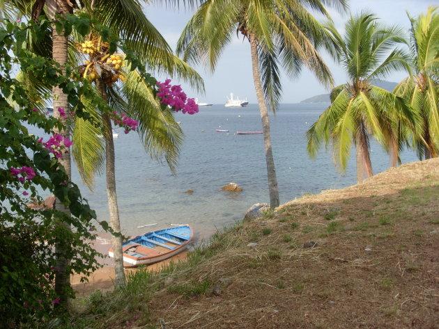 Uitzicht op zee vanaf Taboga